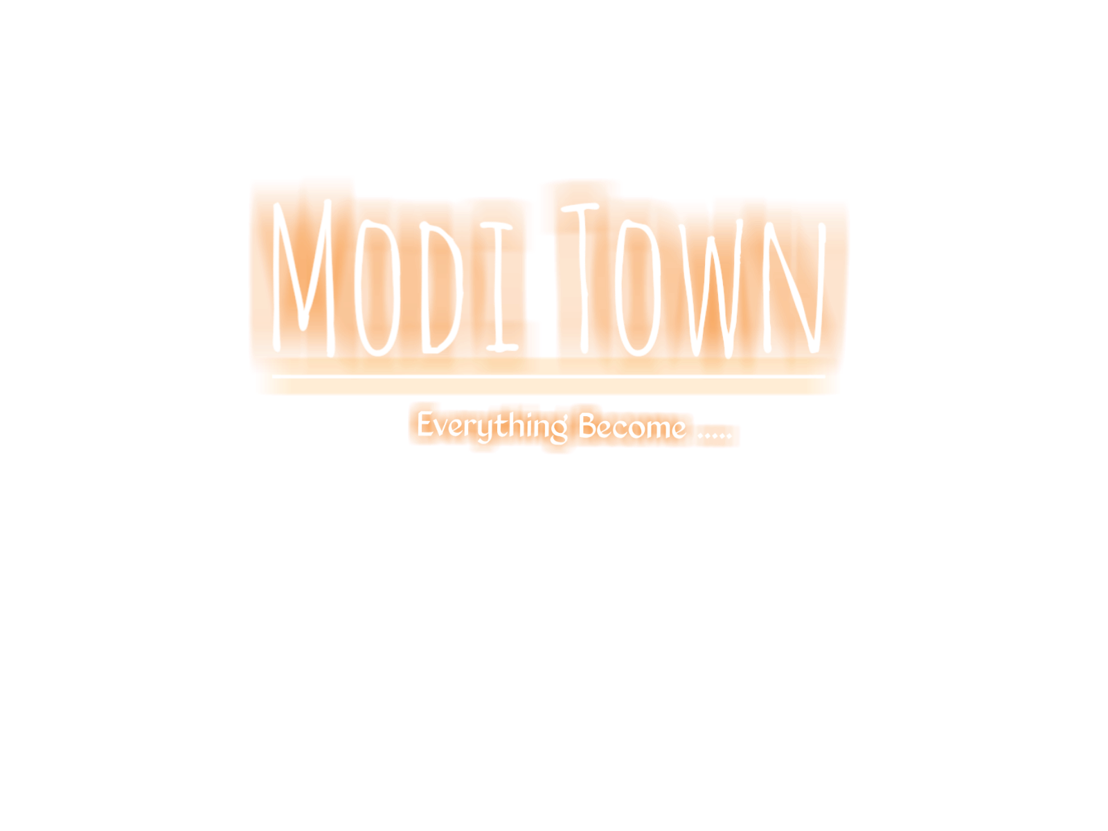 Modi town text png download modi town text with neon light