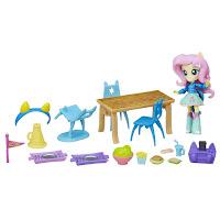 MLP Fluttershy Equestria Girls Mini School Cafeteria Set