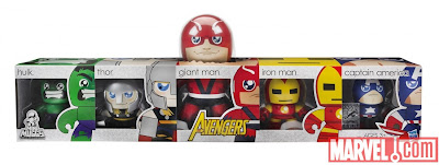 San Diego Comic-Con 2011 Exclusive The Avengers Mini Mighty Muggs Set and Packaging - Hulk, Thor, Giant Man, Iron Man & Captain America