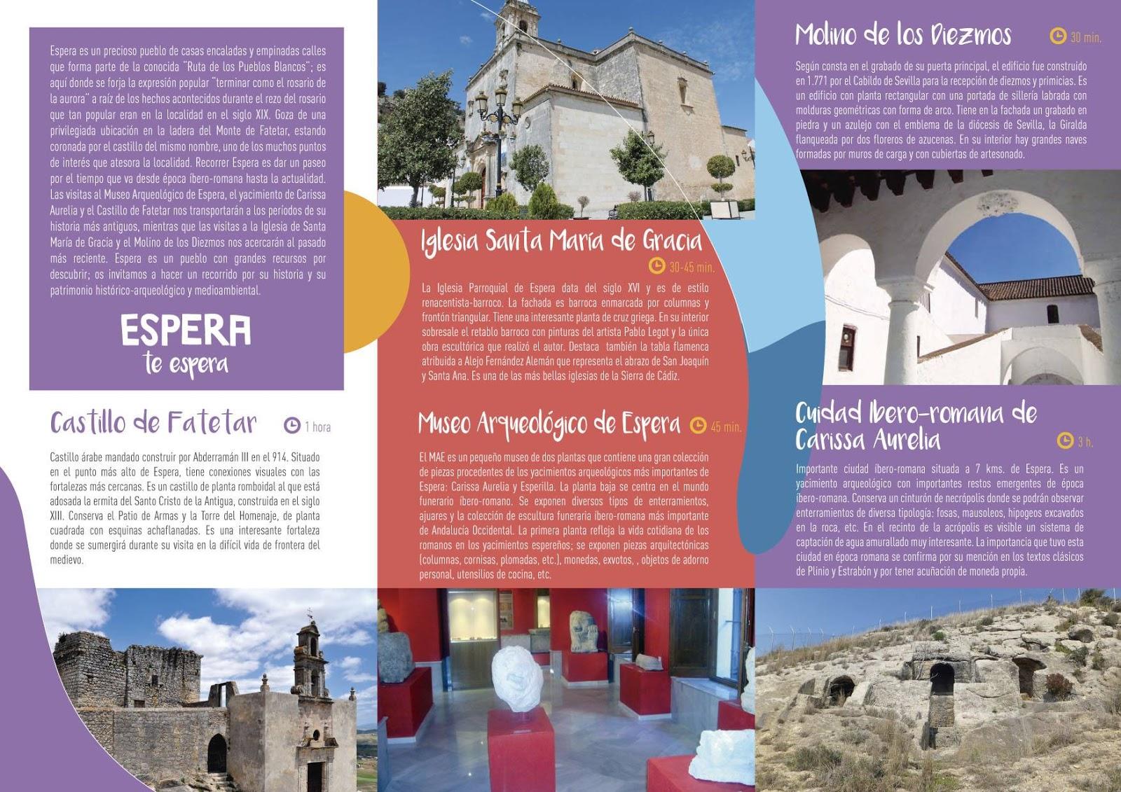 Nuevo folleto turistico ayuntamiento de espera for Oficina turismo roma