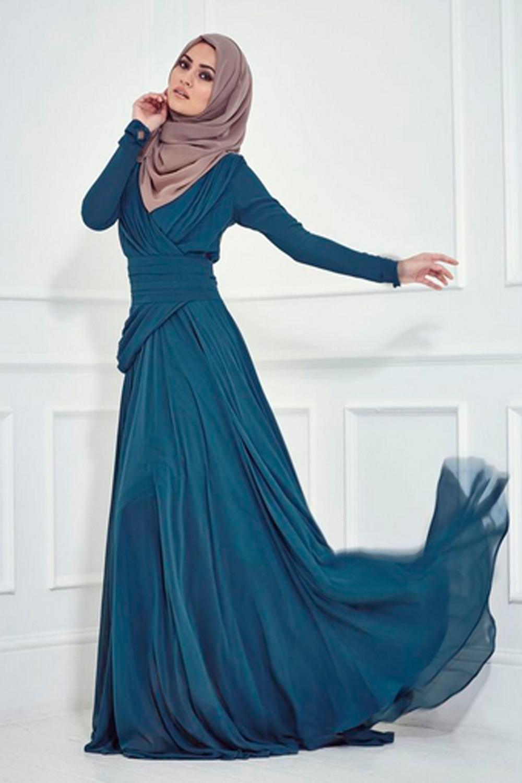Model Gaun Pesta Muslim Terbaru