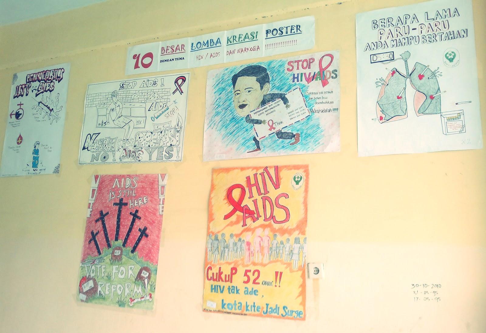 OSIS SMANSA KUALA TUNGKAL: Lomba Poster HIV/AIDS