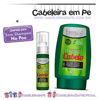 Leave In E Tônico Capilar Cresce Cabelo - Forever Liss (Liberados para No Poo)