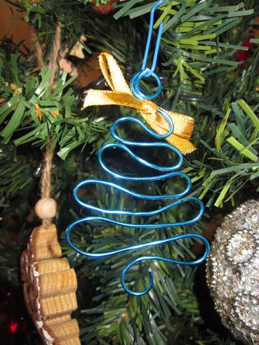 Árbol de Navidad de alambre