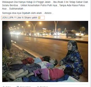 Klik Like/Suka Pada Gambar Korban Kecelakaan
