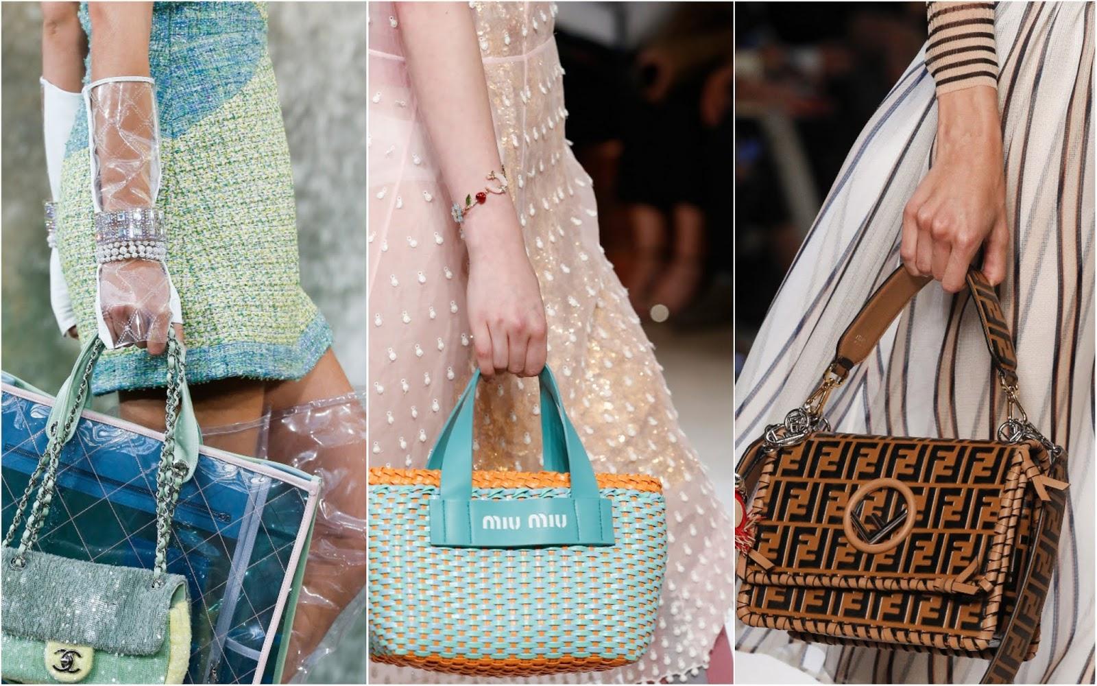 Сетка, пластик и геометрия: самые модные сумки весна-лето 2018