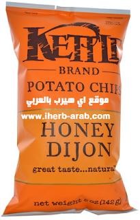 شيبس البطاطا بالعسل - وجبة صحية Kettle Foods, Potato Chips, Honey Dijon, 5 oz (142 g)