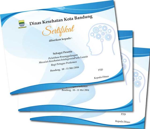 Sertifikat Cetak sertifikat cepat