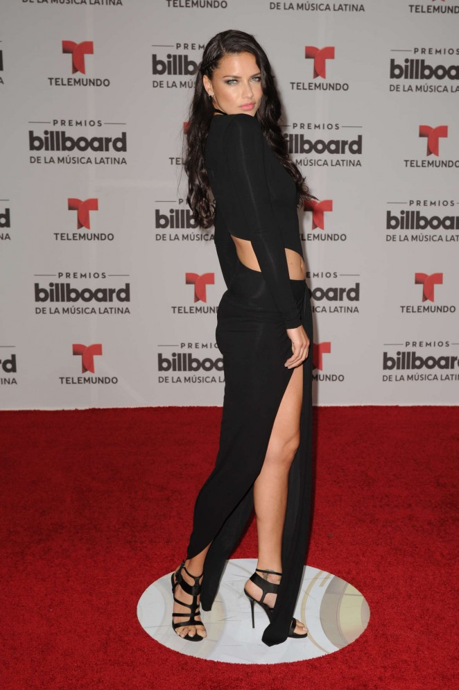 Adriana Lima smoulders at the Billboard Latin Music Awards 2016