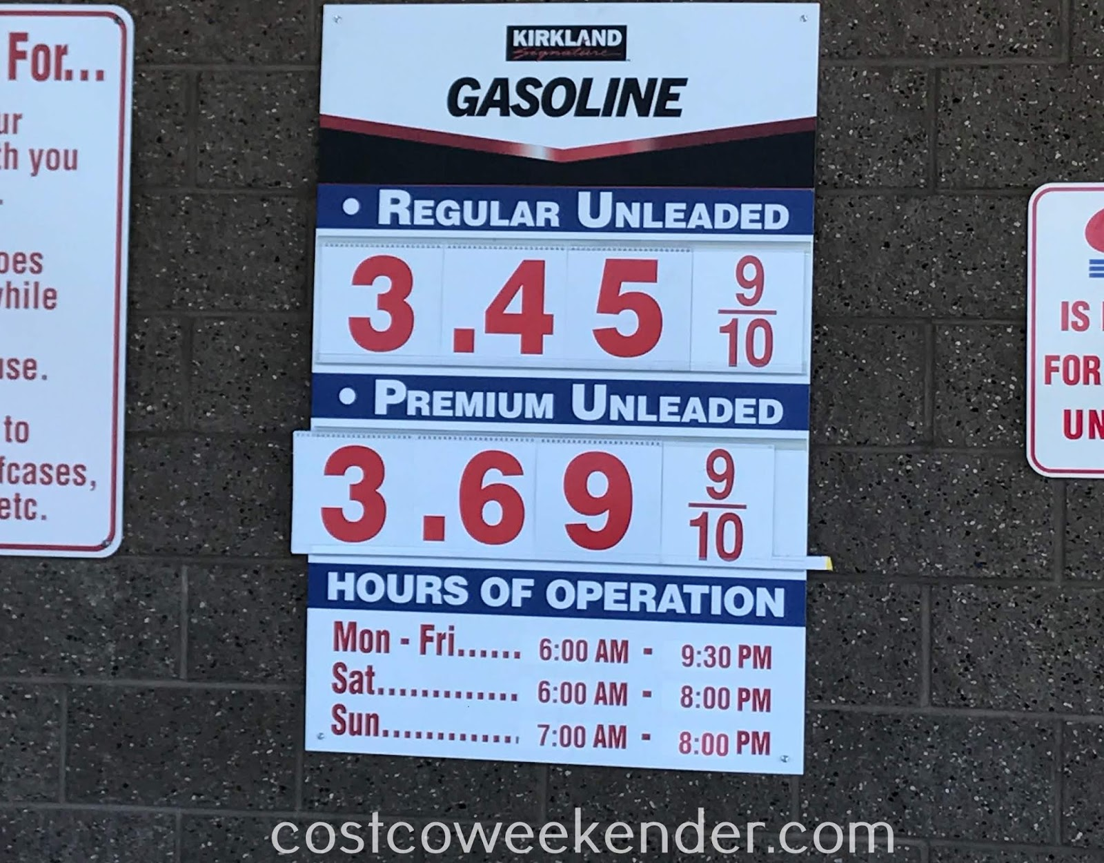 Costco gas for June 11, 2018 at Redwood City, CA