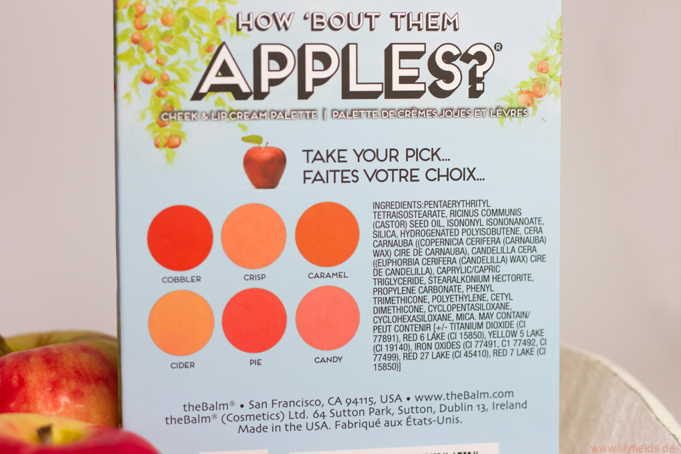 "Foto zeigt die Cheek & Lip Cream Palette ""How 'bout the Apples?"" von The Balm"
