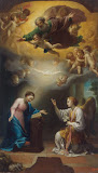 Annunciation by Anton Raphael Mengs - Christianity Paintings from Hermitage Museum