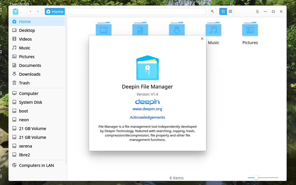 Upgrade Deepin File Manager to 1 4