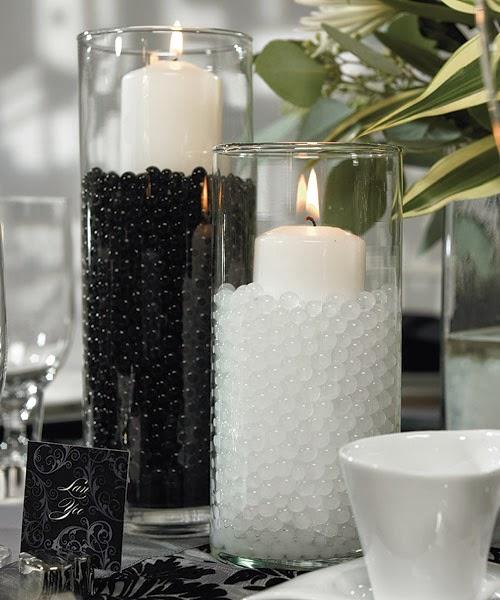 White And Black Wedding Ideas: Black And White Wedding Centerpieces