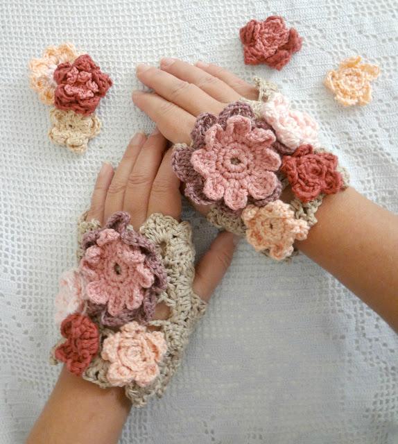 Crochet Flower Warmers