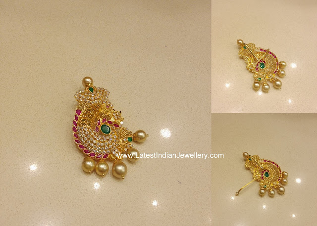 latest indian gold pendant