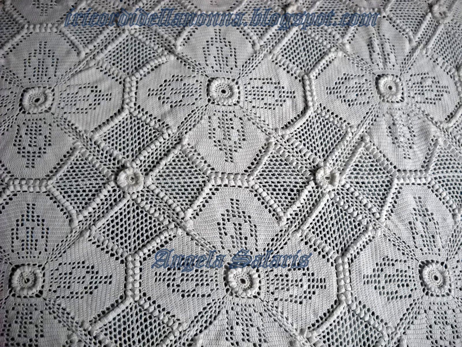 Mattonelle a punto nocciolina per copertina uncinetto crochet