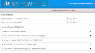 IBPS RRB Office Assistant Admit Card for Mains Exam 2018 out- Download Now