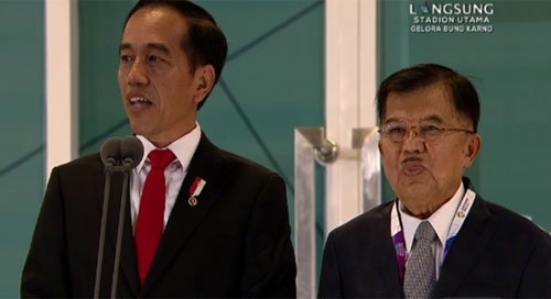 President Of The Republic of Indonesia, Joko Widodo, and Vice President , Jusuf Kalla.  Photo screenshot from DETIK COM