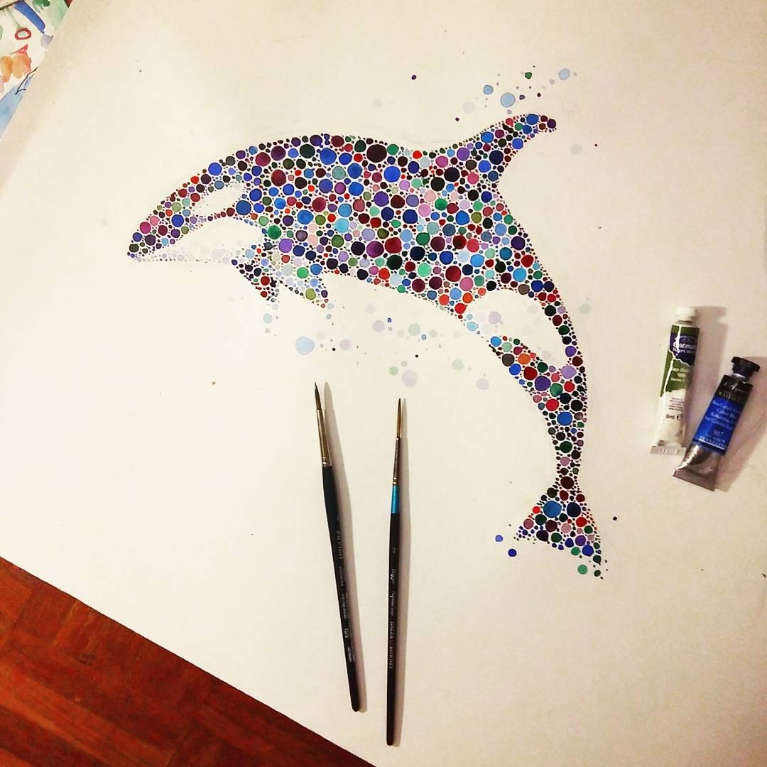 13-Orca-Killer-Whale-Ana-Enshina-anaensh-Dot-and-Circle-Animal-Paintings-Ishihara-Test-www-designstack-co