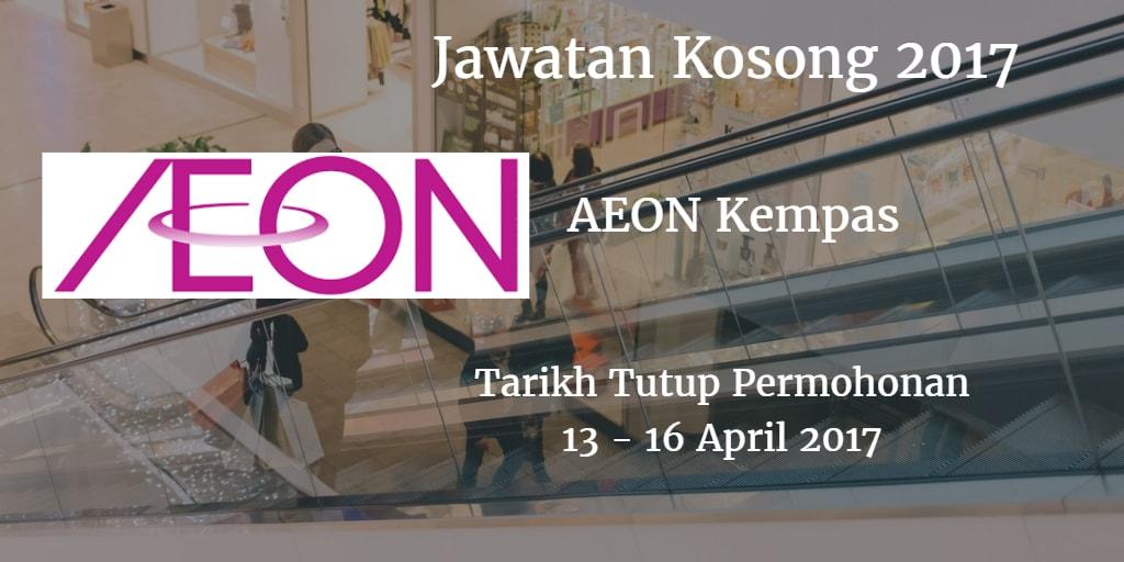 Jawatan Kosong AEON Kempas 13 - 16 April 2017