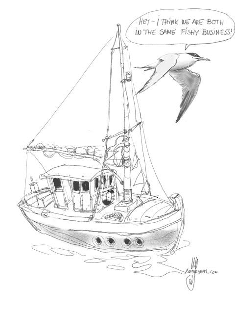 Fishing boat by Artmagenta