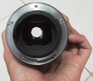 Bagian Belakang lensaa pentax 200mm f/4