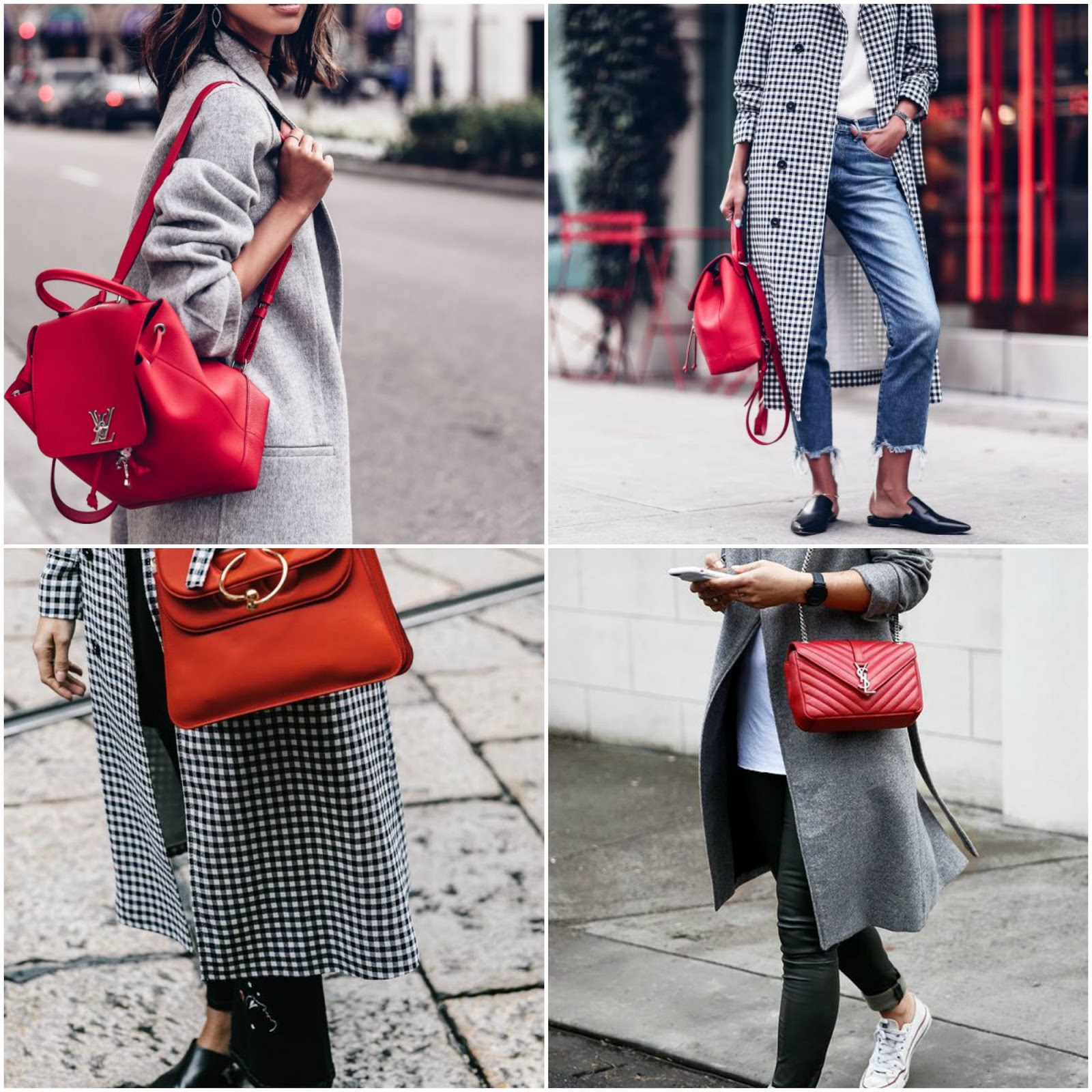 How To Style Red Bags