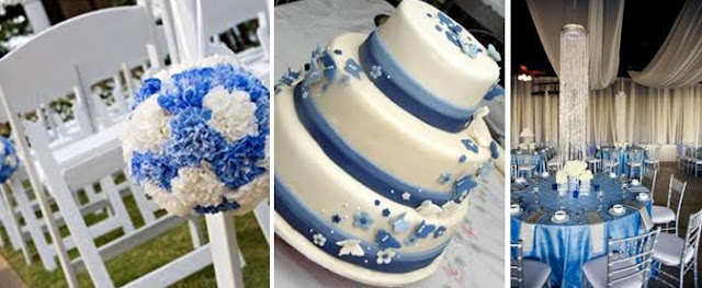 blue and white theme