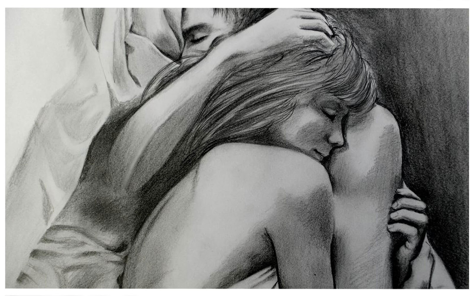 20 Mind-Blowing Pencil Drawings By Greek Artist That Illustrate The Beauty Of Love - It's only you and I until the end