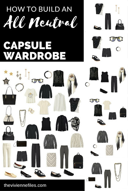 "How to Build an ""All-Neutral"" Capsule Wardrobe in Ivory and Black"