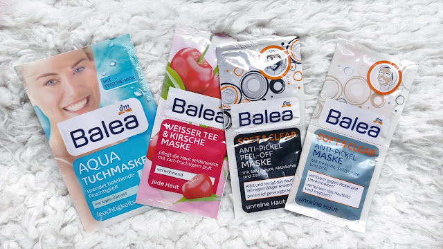 Balea face masks