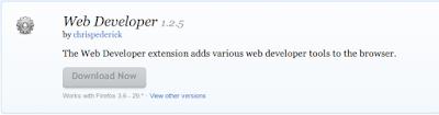 Mozilla Firefox Addons Web Developer