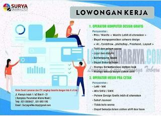 Lowongan Kerja di Surya Grafika CTCP Surabaya Terbaru April 2019