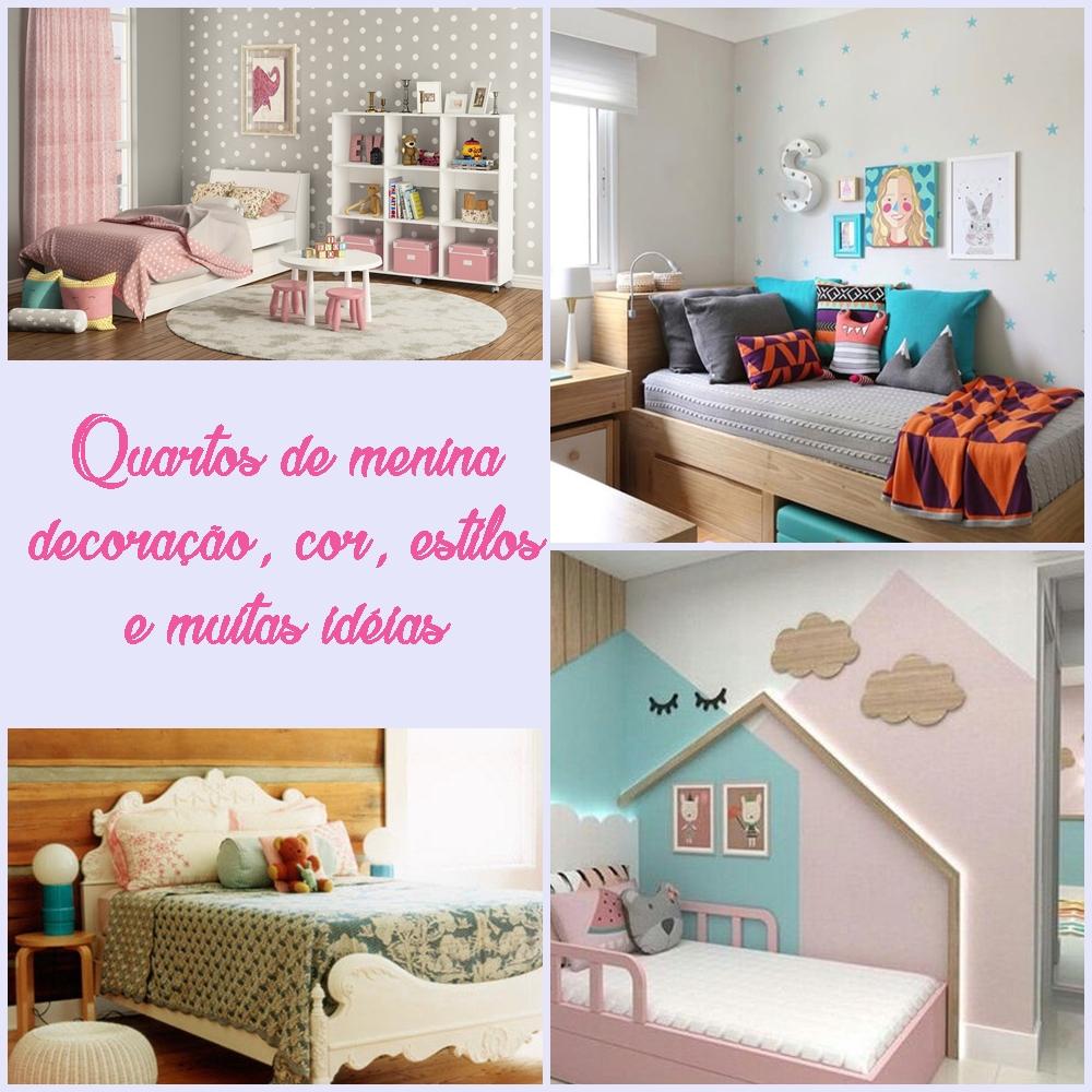 Quartos de menina, decoração, cor, estilos e muitas idéias