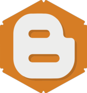 blogger hexagon icon