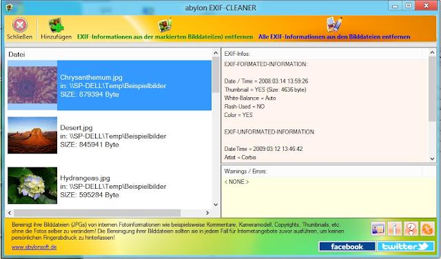 تحميل برنامج EXIF Cleaner لمنع سرقة معلوماتك من الصور الخاصة بك