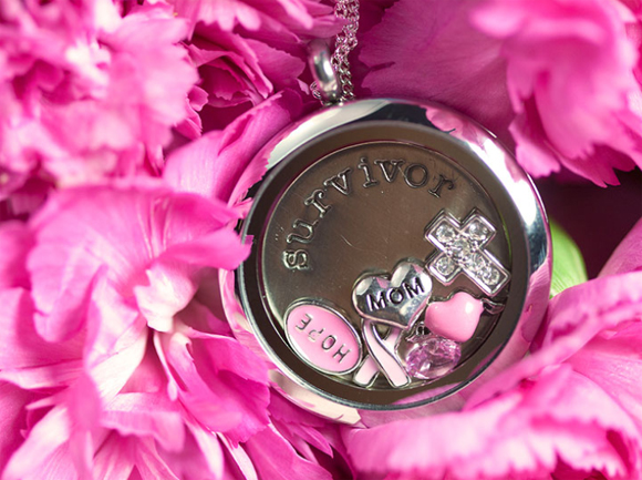 Breast Cancer Survivor Origami Owl Living Locket