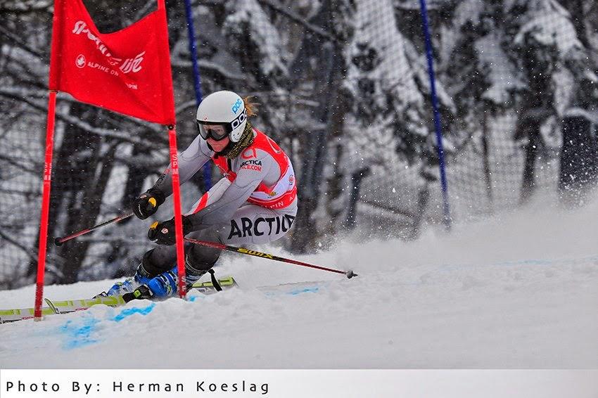 Skier in Arctica speed suit by Herman Koeslag