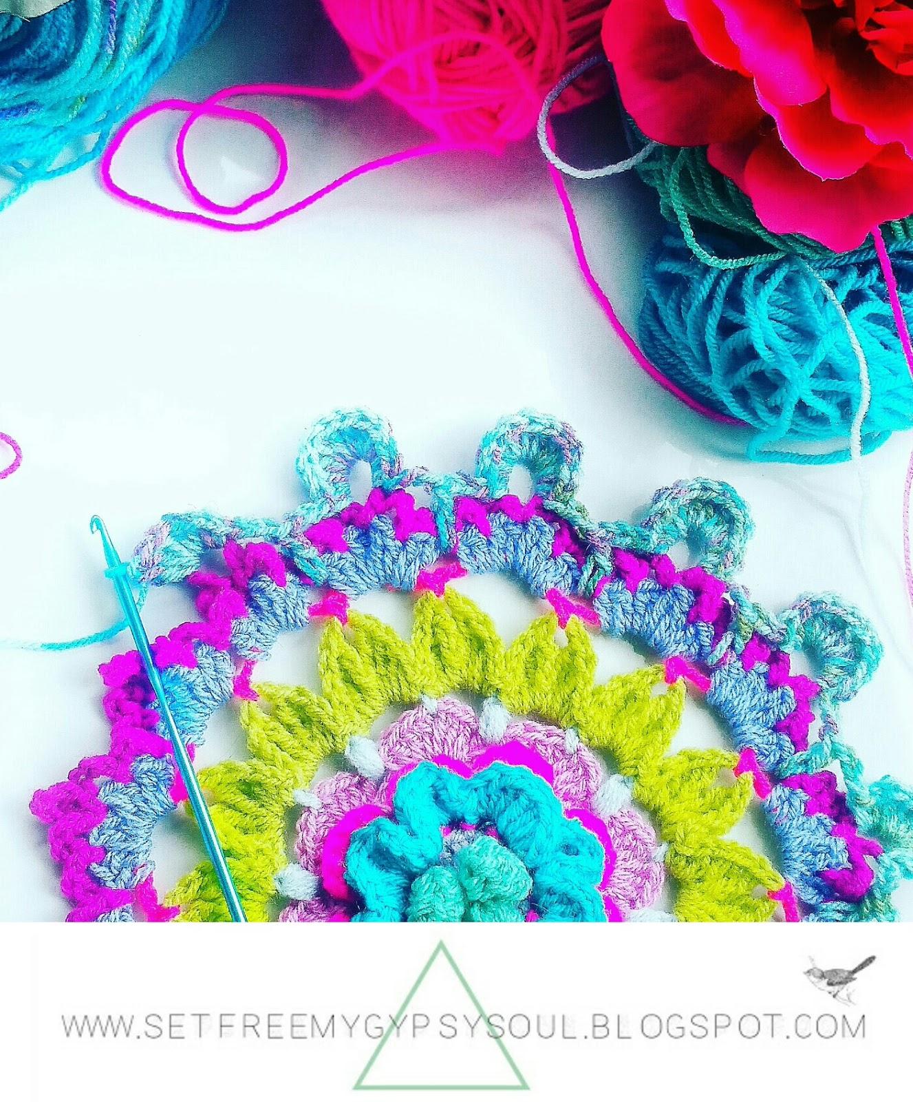 flower mandala crochet pattern free bohemian doily hippie yarn