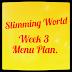 SLIMMING WORLD | WEEK THREE MENU
