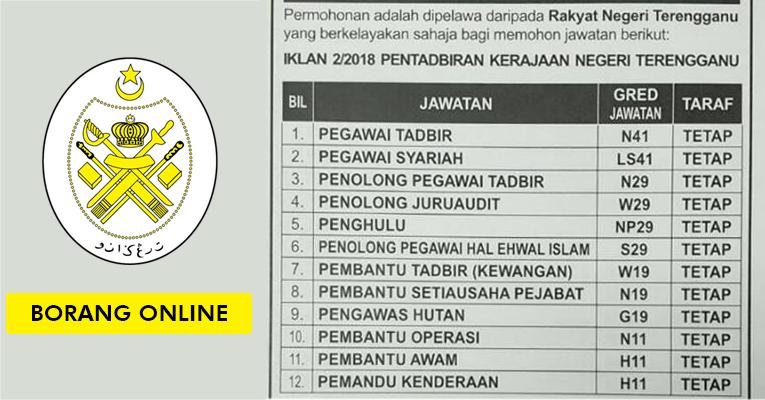 Jawatan Kosong di Kerajaan Negeri Terengganu