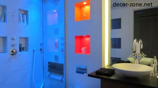 colored led bathroom lighting
