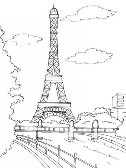 coloriages tour eiffel
