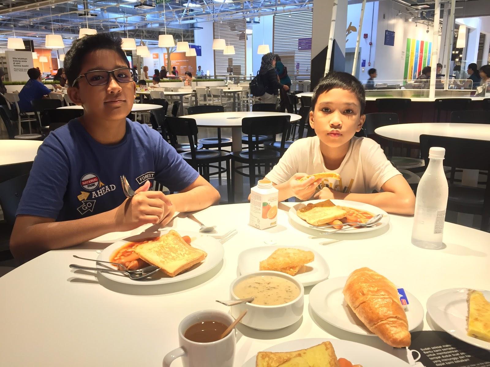 sarapan, breakfast di ikea cheras
