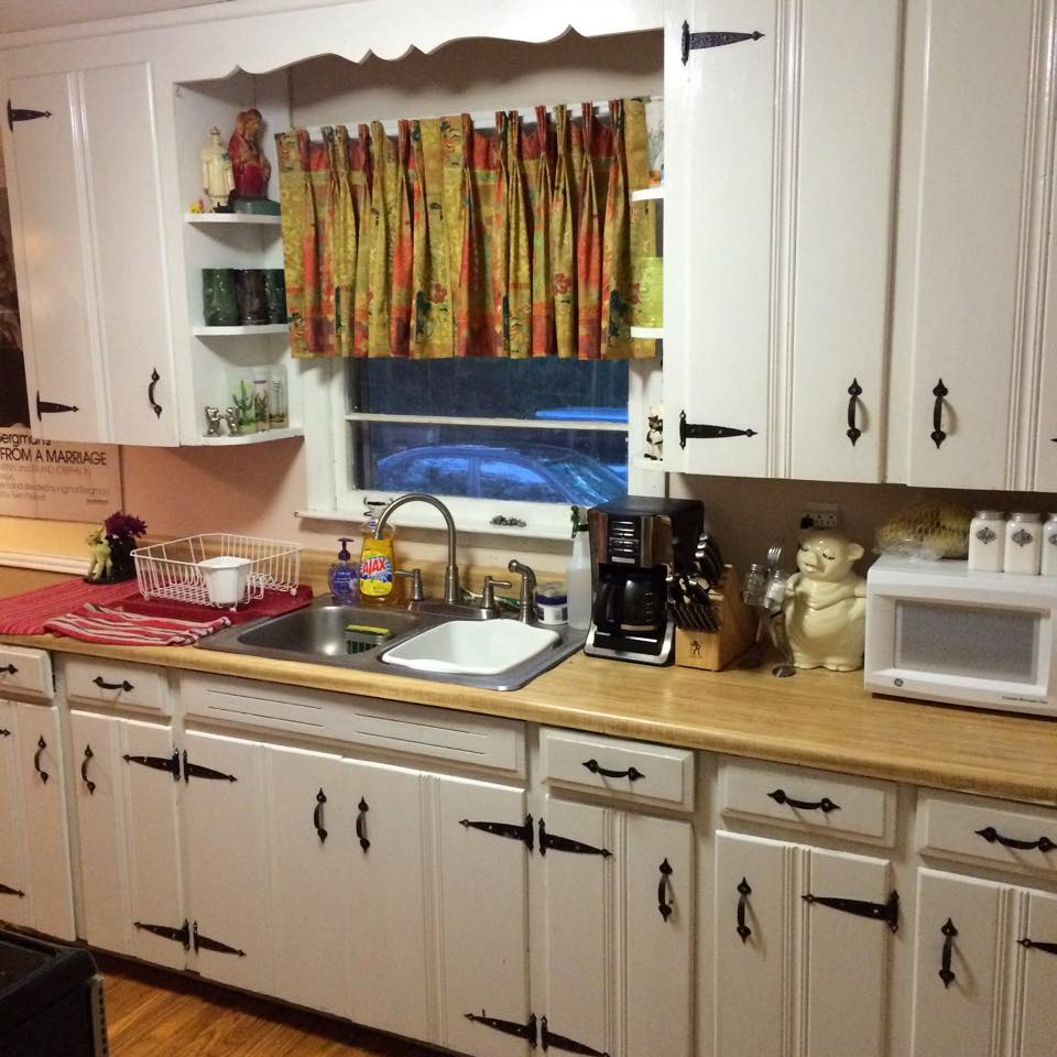 kitchen update embrace early 70s kitchen cabinet updates Still need to hang a magnetic knife rack for those Henckel knives one of the best and most useful things in my kitchen But I ll get around to it