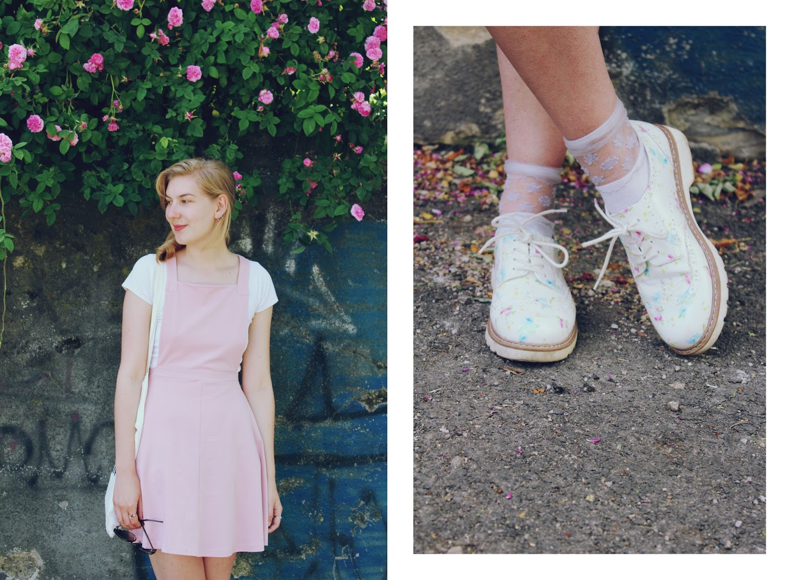 filipa canic, youarethepoet, you are the poet blog, asos, pinafore dress, filipa canic blog, flower shoes, spring, pastels,