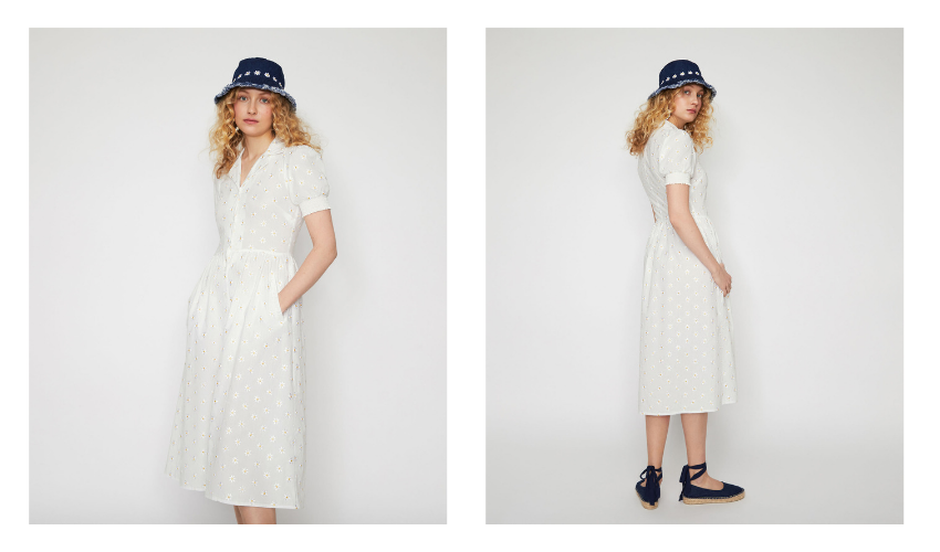 warehouse x shrimps, wareshrimps, daisy stitch dress