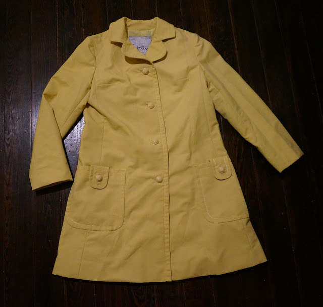 blizzand impermeable femme 60s 1960s canvas spring coat raincoat