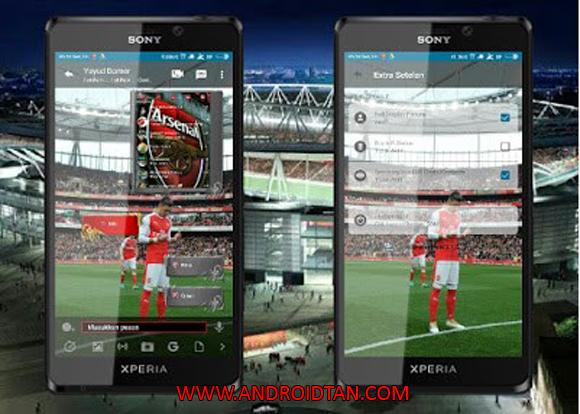 Free Download BBM Mod Apk Arsenal Clone New Style Terbaru 2017 Gratis